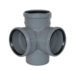 Крестовина канализационная 110х110х110х90 2-х плоскостная