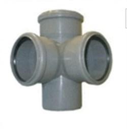Крестовина канализационная 50х50х50х90 2-х плоскостная