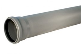 Труба канализационная раструбная 110х500 мм